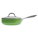 Aubecq Evergreen Classic Saute Pan with Lid 24cm