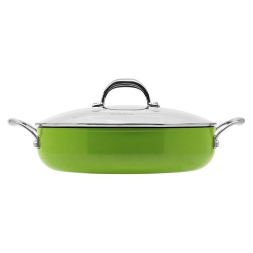 Aubecq Evergreen Classic Saute Pan With Lid 28cm On Sale