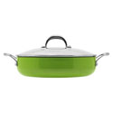 Aubecq Evergreen Classic Saute Pan with Lid 28cm