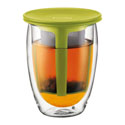 Bodum Tea for One Glass with Strainer Green