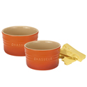 Chasseur La Cuisson Ramekins Set of 2 Orange