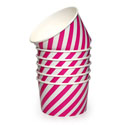 Dishy Ice Cream Cups 10pk Hot Pink Stripe