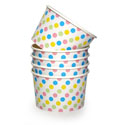 Dishy Ice Cream Cups 10pk Multi Dot
