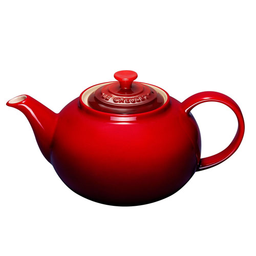 le creuset classic teapot cerise on sale now. Black Bedroom Furniture Sets. Home Design Ideas