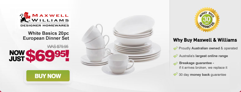 Maxwell & Williams White Basics 20pc European Dinner Set