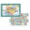Microban Reversible Placemats Noahs Ark/Alphabet