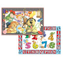 Microban Reversible Placemats Pet Store/Numbers & Letters
