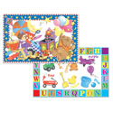 Microban Reversible Placemats Toy Shelf/Letters & Colours