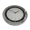 Premium Chrome Baton Clock 41cm