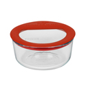 Pyrex Round Glass Storage 473ml Red