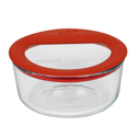 Pyrex Round Glass Storage 946ml Red