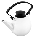 Qdo Porcelain Teapot with Clip Handle 1L Black