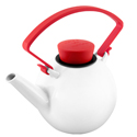 Qdo Porcelain Teapot with Clip Handle 1L Red