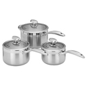Scanpan Clad 5 3pc Saucepan Set