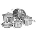 Scanpan Clad 5 5pc Set w/ Steamer, Casserole, Fry Pan & 2 Saucepans