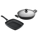 Scanpan Classic 2pc Set w/ 28cm Chef's Pan & 27cm Grill Pan