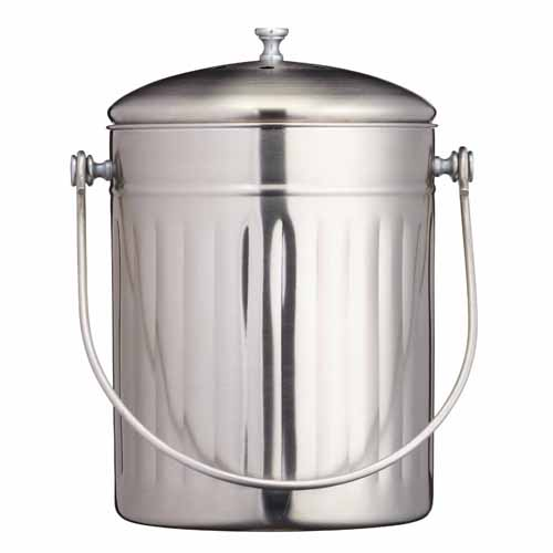 kitchen craft stainless steel compost bin 5l on sale now